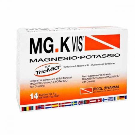 MGK VIS magnesio e potassio, 14 bustine da 4 g