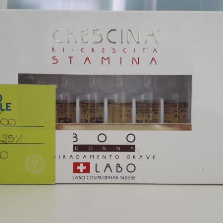 CRESCINA RICRESCITA STAMINA 300 DONNA - 1 flacone attivatore + 12 fiale