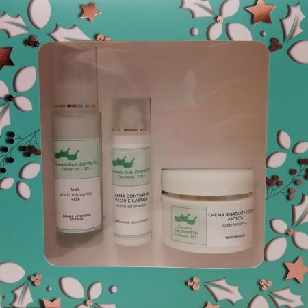 Farmacia Zappetti - Cofanetto Natale (crema idratante forte antietà + gel acido ialuronico + crema contorno occhi e labbra)