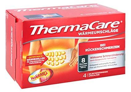 Thermacare - Fasce autoriscaldanti per i dolori della schiena, 4 fasce