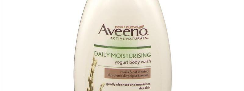 Aveeno - Bagno doccia allo yogurt vaniglia e avena, 300 ml