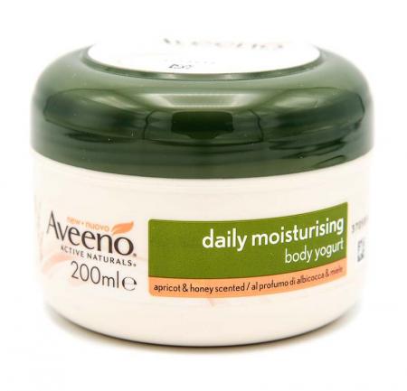 Aveeno - Crema corpo yogurt albicocca e miele, 200 ml