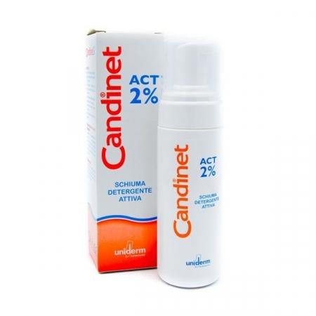 Candinet Act 2%, schiuma detergente attiva 150 ml