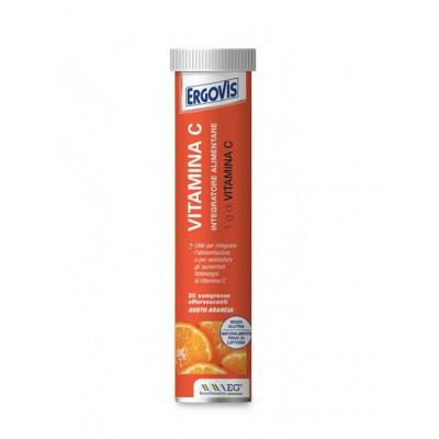 Ergovis - Vitamina C 1g, 20 compresse effervescenti