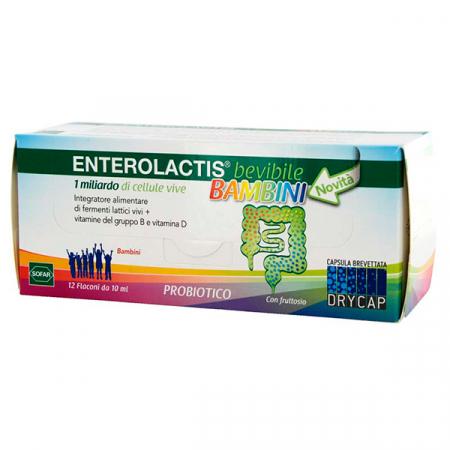 Enterolactis bevibile bambini, 12 flaconcini da 10 ml