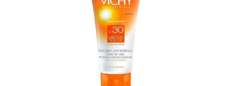 Vichy - Ideal Soleil crema viso dry touch, protezione 30