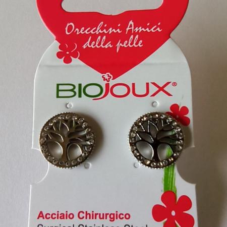 Biojoux BJT994 - Orecchini albero della vita con cristalli (12 millimetri)