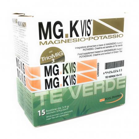 MG.K VIS magnesio e potassio al tè verde, 15+15 bustine