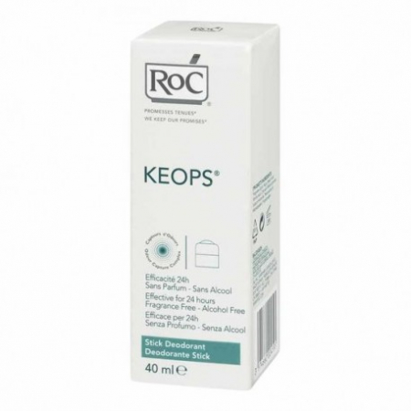 Roc Keops - Deodorante stick 24h, 40 ml